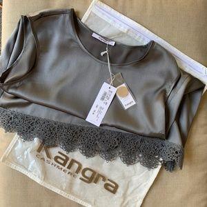 Kangra cashmere canotta seta top